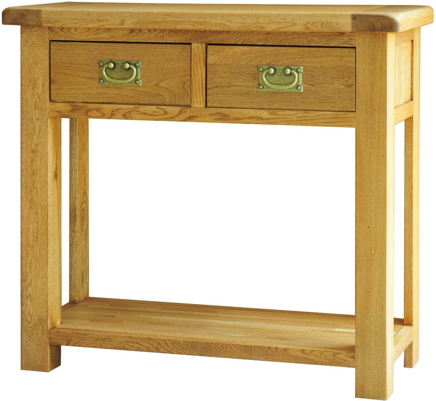 Grasmere Solid Oak Hallway Furniture Two Drawer Console
